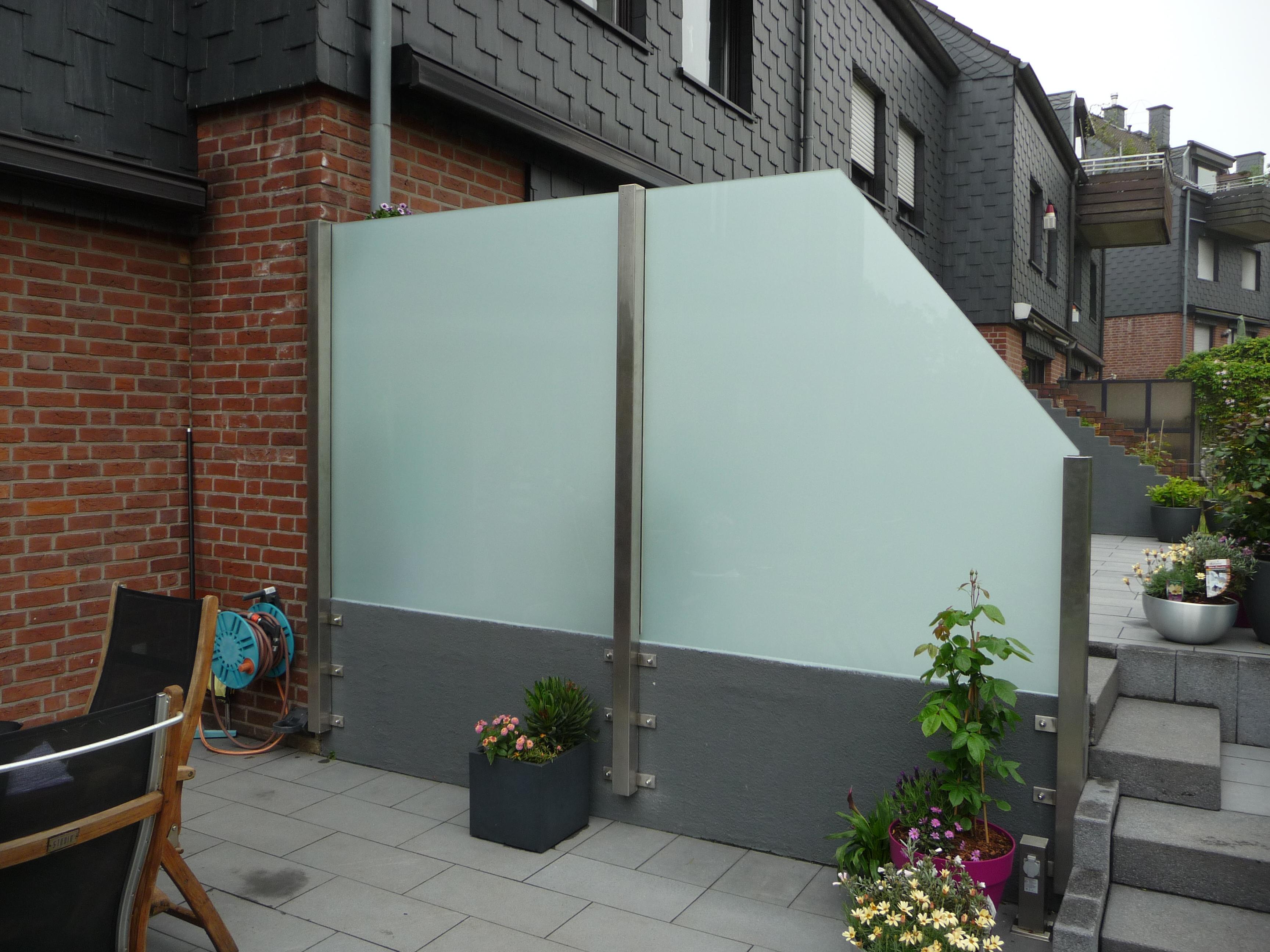 Seitlicher Sichtschutz Glashaus Tobias